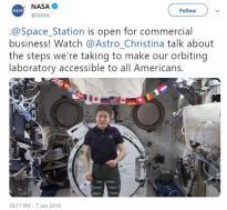 NASA投身寻求商业利润活动