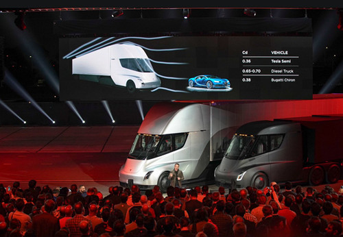 特斯拉电动卡车Semi再度现身 参与运输Model 3