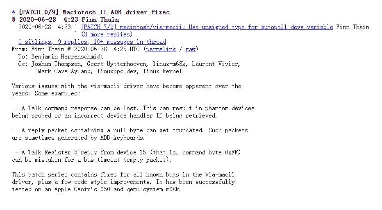 2020 年的 Linux 内核仍为苹果 Macintosh II 修复驱动