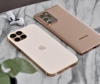 金色iPhone 12 Pro Max /古铜色三星Note 20 Ultra对比照片曝光