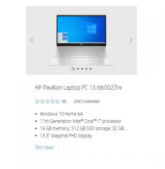 惠普新一代 Pavilion 轻薄本上线官网 搭载 i7-1165G7 处理器