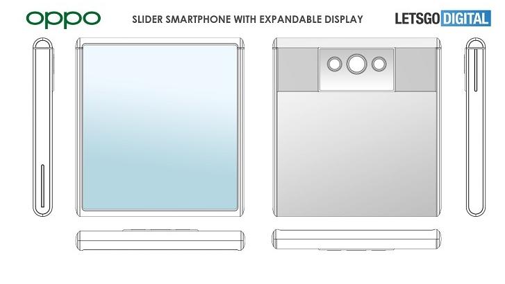 OPPO拉伸屏设计专利曝光:收纳状态为正方形 显示面积增加80%