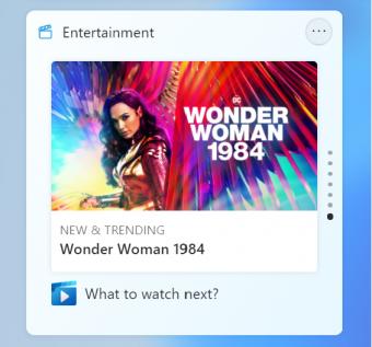 微软Win11 Build 22000.71更新:全新娱乐小工具 任务栏预览更新