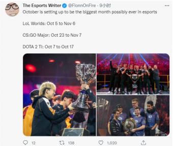 外媒爆料:S11全球总决赛时间10月5日至11月6日 CS:GO日期也公布