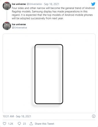 曝三星Galaxy Note 22预生产中:采用均匀、非常窄的边框