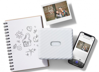 富士推Link Wide便携照片打印机:可为照片添加文字或裁剪图像