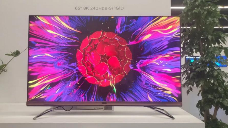 京东方研发出8K 240Hz a-Si 1G1D大尺寸显示屏技术 透过率大幅提升