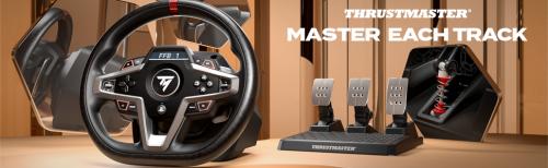 T248:新款力反馈赛车方向盘,在 PS5™ 主机、PS4™ 主机和 PC*上轻松驾驭每一条赛道